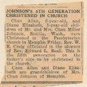 Chan Allen Johnson - Memphis Christening article