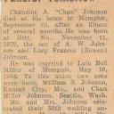 Chandler Allen Johnson - Newspaper Death Notice