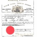 Jeremiah King & Mary Ann Munsell - Illinois Marriage Record